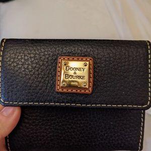 dooney & Burke black leather wallet